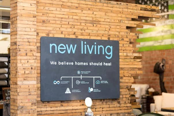 sign at the New Living store in Houston