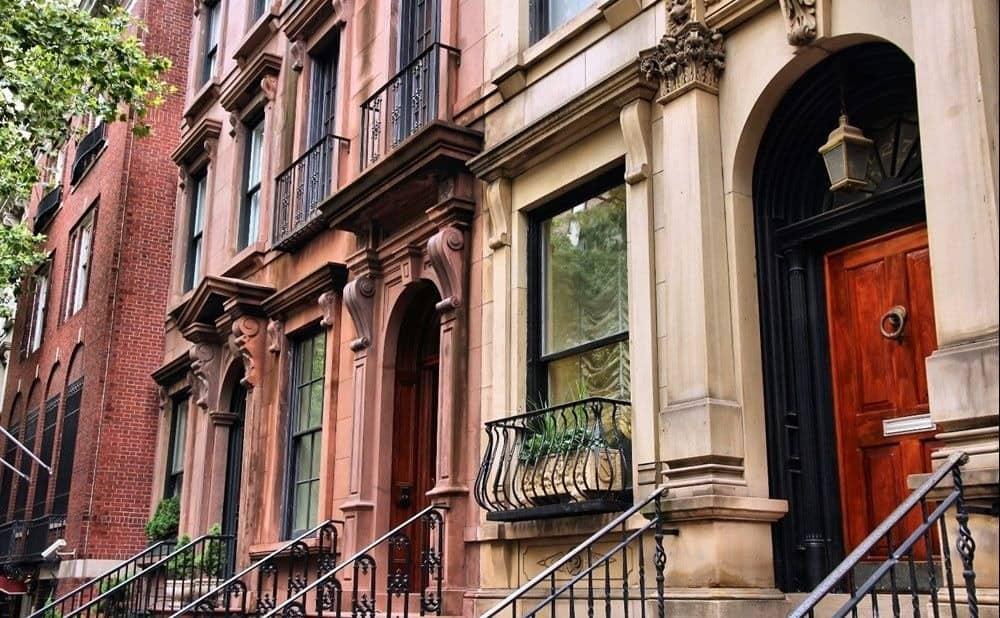 Rows of buildings in NYC