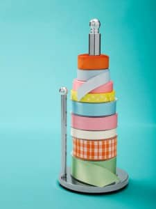 Paper Towel Holder Upcycle_Ribbon Holder