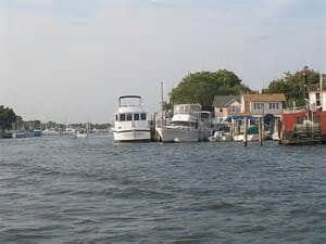 Patchogue, New York waterfront