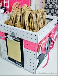 pegboard craft box