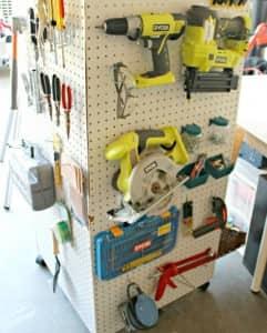 pegboard tool organizer