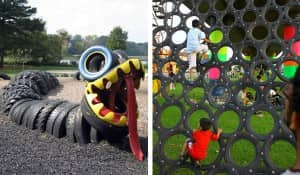 The world 39 s most amazing playgrounds made from recyclables for Tire play structure