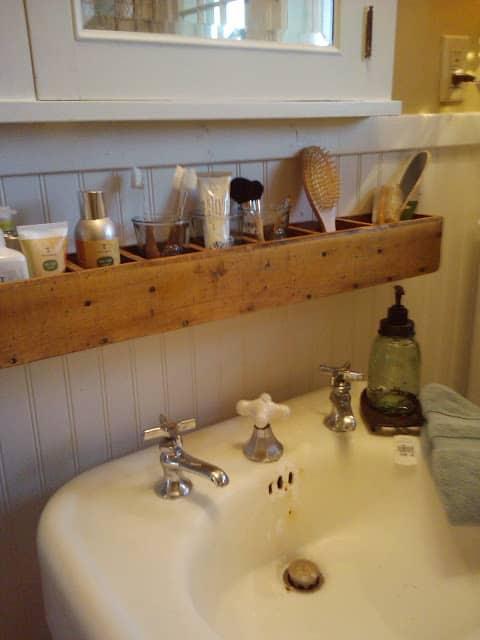 Shelving Bathroom Storage Caddy Above Sink