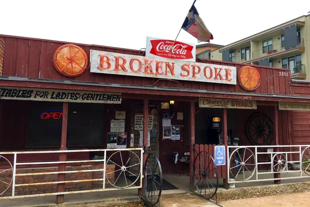 The famous Broken Spoke Dancehall in Austin, Texas