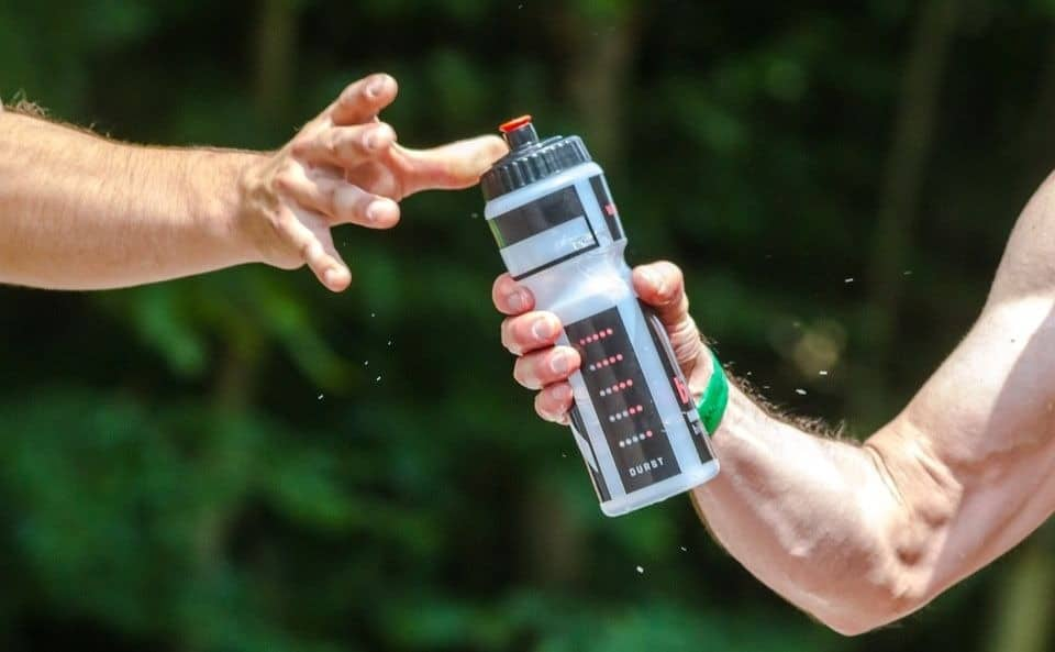 Refillable water bottle used in daily activities