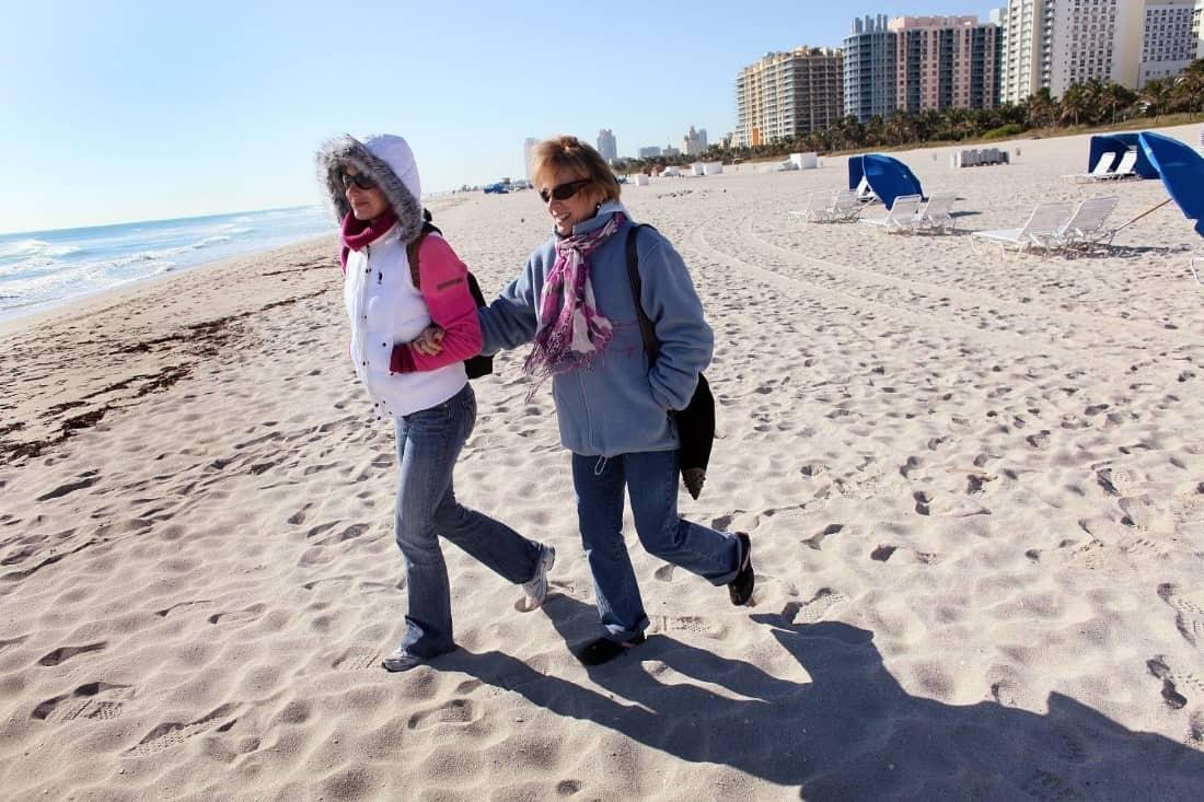 Miami winter on the beach