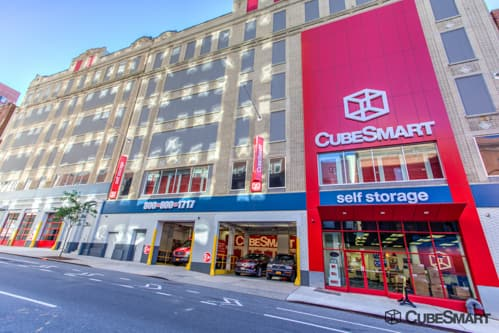 Exterior of a multi-story CubeSmart Self Storage facility in New York NY & Self-Storage Units (From $23) at 444 West 55th Street in New York ...