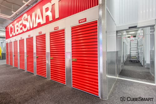 ... NY Interior self storage units with red doors in New York ... & Self-Storage Units (From $23) at 444 West 55th Street in New York ...
