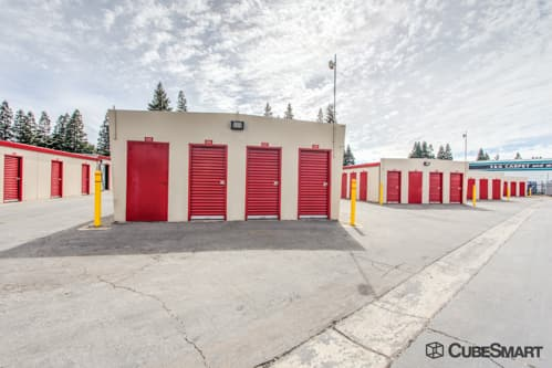 ... CA Self Storage Units With Red Roll Up Doors In Rancho Cordova, CA