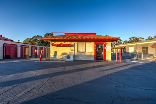 Exterior of CubeSmart Self Storage facility in San Marcos, CA