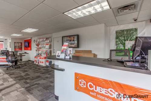 Workspace in CubeSmart office at 601 South Ave E