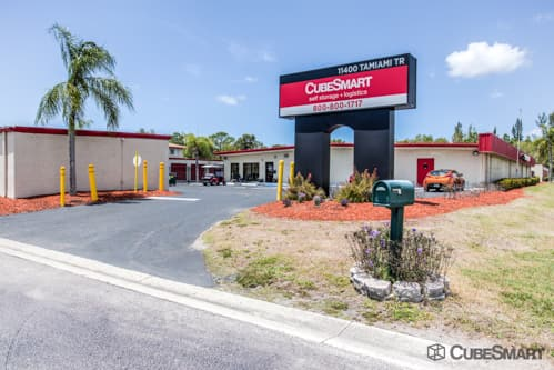 Exterior of CubeSmart Self Storage facility at 11400 East Tamiami Trail