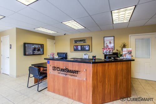 Workspace in CubeSmart office at 11400 East Tamiami Trail