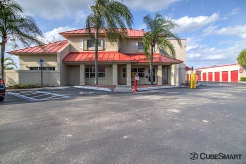 Exterior of a multi-story CubeSmart Self Storage facility in Pembroke Pines, FL