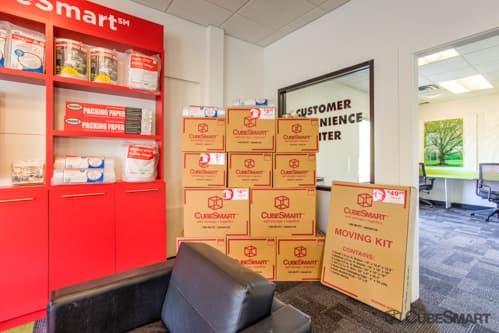 Moving boxes sold at CubeSmart in Suwanee, GA
