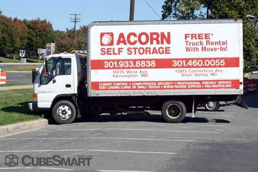 Free storage moving truck available at 13813 Connecticut Ave