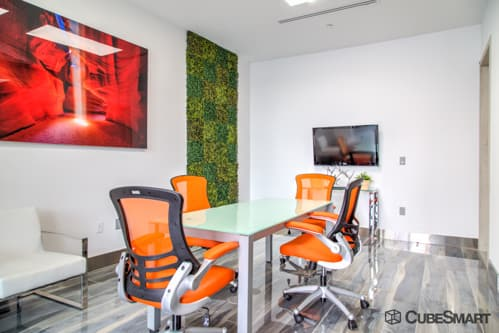 Workspace at CubeSmart office in Doral, FL