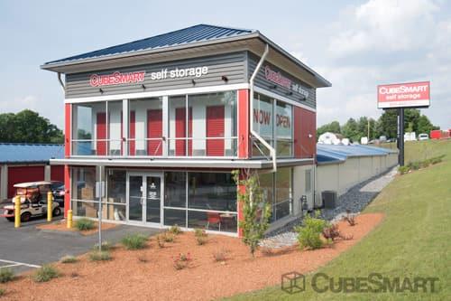 Exterior Of CubeSmart Self Storage Facility In Shrewsbury, MA